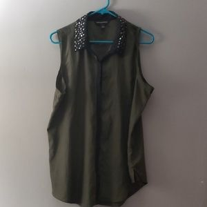Rock and Republic tank top button up blouse